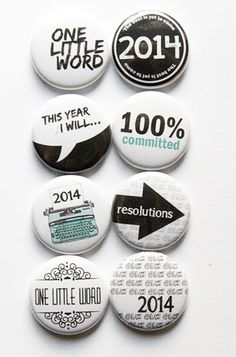 One Little Word 2014 Flair by aflairforbuttons on Etsy, $6.00