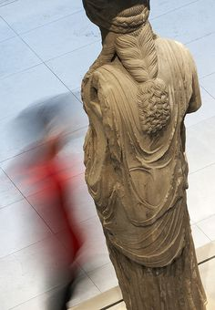 caryatid from the Acropolis museum Athens, Greece