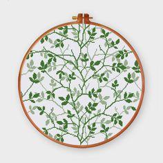 Flourishing Green cross stitch pattern Modern by ThuHaDesign