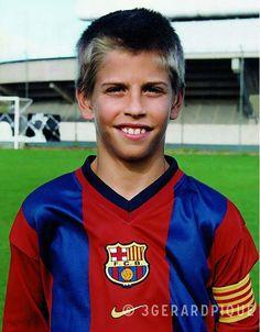 El Piqué niño en el Barça