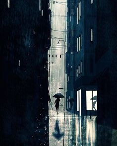 Kai Fine Art is an art website, shows painting and illustration works all over the world. Yuumei Art, Arte 8 Bits, Pascal Campion, Anime Scenery, City Art, Storyboard, Cute Wallpapers, Art Inspo, Amazing Art
