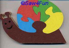 Snail #33 Puzzle Scroll Saw Pattern