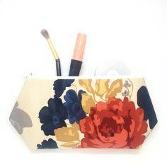 A personal favorite from my Etsy shop https://www.etsy.com/listing/203787196/floral-tote-bag-large-cosmetic-bag