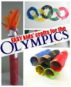Easy Olympic themed crafts for kids - how is your family celebrating ?