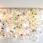 Winter Sparkle Mirror Garland & White Lights | Apartment Therapy