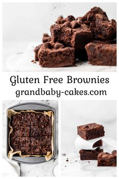 Decadent, fudgy, and absolutely irresistible, these allergy-friendly Vegan Gluten Free Brownies are made with just a few simple real food ingredients! Homemade Desserts, Best Dessert Recipes, Gluten Free Desserts, Easy Desserts, Sweet Recipes, Delicious Desserts, Vegan Gluten Free Brownies, Yummy Food, Bar Recipes