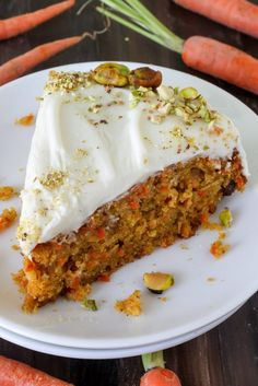 Pumpkin Carrot Cake with Cream Cheese Frosting _ Your house will smell AMAZING while this cake bakes in yo oven. That's a promise & a fact. Silky cream cheese frosting & chopped pistachios finish off this delicious cake! Pumpkin Carrot Cake Recipe, Best Carrot Cake, Pumpkin Puree, Pumpkin Recipes, Pumpkin Spice, Cake Recipes, Dessert Recipes, Pumpkin Cupcakes, Carrot Cakes