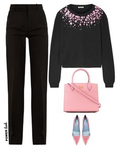 """""""Untitled #460"""" by anaalex ❤ liked on Polyvore featuring Miu Miu, Prada, Gucci, girlpower and powerlook"""