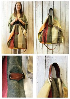 ALLEGRA BAG Handmade grooved cotton & Leather Shopping bagtote di LaSellerieLimited su Etsy