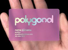 Tinted Translucent Plastic Business Cards