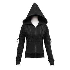 Metamorphosis Hoodie Top by Punk Rave ($99) ❤ liked on Polyvore featuring tops, hoodies, punk rock hoodies, goth hoodies, punk hoodie, corset style tops and gothic hoodies