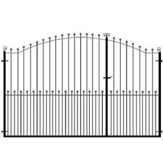 Surrey Split Entrance Gates by Gates and Fences UK