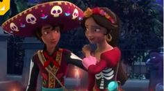 Mateo and Elena in their Día de lots Muertos costumes | matena elenateo | Elena of Avalor