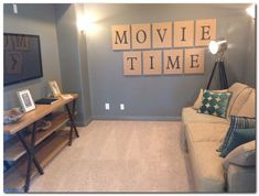 Movie Room Decor Theater Room Decor Game Room Basement in Theater Room Decor de cine en casa diy Theater Room Decor, Movie Theater Rooms, Game Room Decor, Movie Rooms, Wall Decor, Tv Rooms, Tiny Movie, Small Movie Room, Game Room Basement