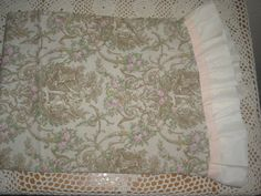 Victorian Toile Pillow Sham With Ruffle by laelsuptownvintage, $6.00