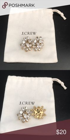 Beautiful, bold earrings from J.Crew Large stud statement earrings perfect for a night out! J. Crew Jewelry Earrings
