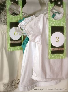 {Baby Shower Gifts: Closet Organizers} This is a brilliant idea. Would have loved these when the girls were infants!