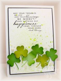 WT469 Shamrock Blessing by bfinlay - Cards and Paper Crafts at Splitcoaststampers