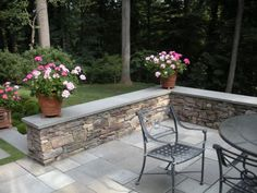 bluestone patio seat wall - Google Search
