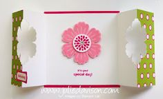 Julie's Stamping Spot -- Stampin' Up! Project Ideas Posted Daily: Double Punched Blossom Card Tutorial