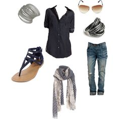 Out mall outfit, created by iamjenagain on Polyvore