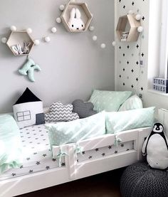 Is To Me | How beautiful is this kid's room! Designed by the lovely @kajastef for her gorgeous little boy, love the colour combo! #kidsroom