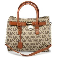 Michael Kors Logo Large Beige Totes Outlet