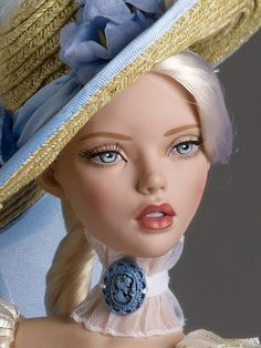 "#pinned #dollchat our Deja Vu dressed doll ""Countryside Visit"" from the 2014 Mainline Release close up photo.  ^kv"