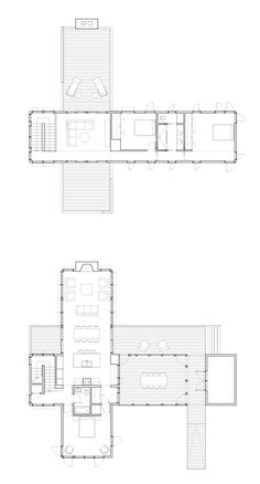 Detail Architecture, Architecture Plan, Residential Architecture, Modern House Plans, House Floor Plans, My House Plans, Minimal House Design, Small House Design, Home Design Plans