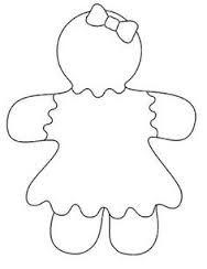 Resultado de imagen de colorear muñeco de jengibre