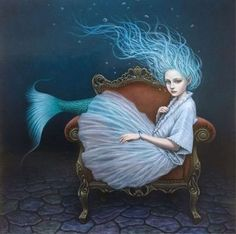 by Shiori Matsumoto Real Mermaids, Unicorns And Mermaids, Mermaids And Mermen, Vintage Mermaid, Mermaid Art, Mystic Fair, Mermaid History, Tarot, Mermaid Pictures