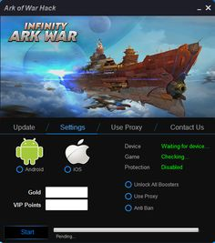 Good day! Welcome to another release here on HaveGameHacks.com . Ark of War Hack tool  features a simple and user friendly interface, wor...