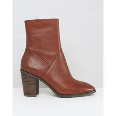 ALDO Fearien Leather Heeled Ankle Boots (72 CHF) via Polyvore featuring shoes, boots, ankle booties, high heel booties, short leather boots, leather booties, leather ankle boots and leather boots