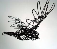 Original Wire Bird Sculpture  Starling In Flight  by wireanimals, $42.00