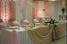 #Wedding reception #bridal #table #flowers top table simple pink