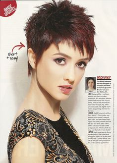 """L salon's styles are featured in """"Fall in Love Makeovers"""" - Sophisticate's Hairstyle Guide February issue."""