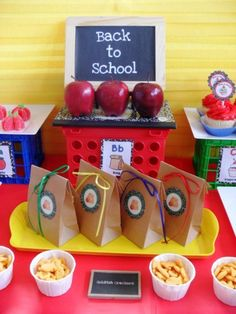 Back to School Party  ( also: Back to school snacks, school snacks, teacher's gifts, teacher appreciation)