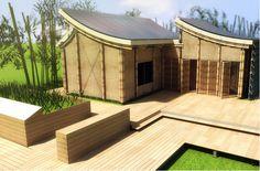 bamboo solar house