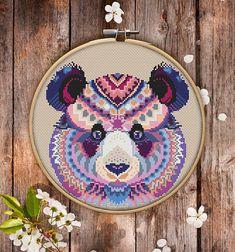 Mandala Panda Cross Stitch Pattern $3.95