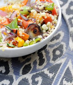 Organic Quinoa Salad (with grilled veggies) ~ fresh and delicious!