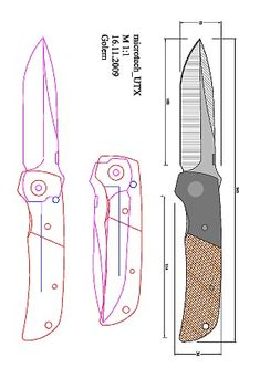 z_atvarak_unk .pdf - OneDrive Scroll Saw Patterns, Pdf Patterns, Friction Folder, Knife Template, Knife Patterns, Diy Knife, Plumbing Tools, Folder Design, Construction Tools