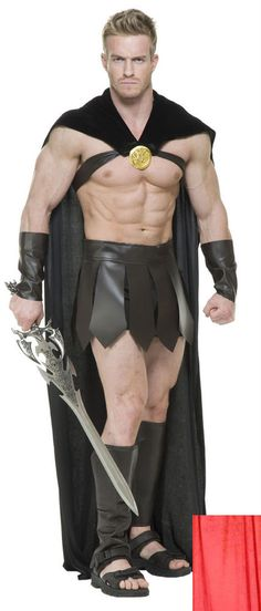 LABSCOSTUMES LABS COSTUMES SPARTAN WARRIOR 300 ROMAN GREEK GLADIATOR THOR SUPERHERO COSTUME LEGIONS CAPE.   Adult Spartan Warrior Legions Cross Cape - Only. Includes one cross shoulder cape with gold medallion detail and chest harness. | eBay!