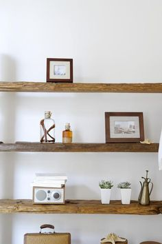 How to Refresh Your Home in the New Year on a Budget is part of Unique Home Accessories Shelves - Eager to give your space a New Year's makeover—without blowing your budget These easy expert tips promise to bring new life to your home New Homes, Room Decor, Decor, House Interior, Home, Wooden Shelves, Home Diy, Floating Shelves, Home Decor