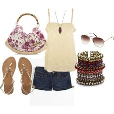 Summer Breeze, created by hatsgaloore on Polyvore