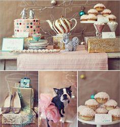 Pup in pink tu tu - love! Birthday_ party _ reception _ shower