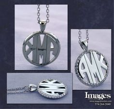 Diamond Initial Pendant From Images Jewelers