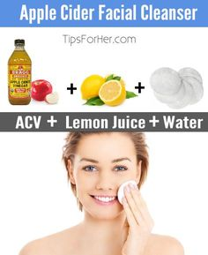 Apple cider vinegar for your face! Helps to clear up acne, reduce pores and improve the appearance of smoother looking skin!