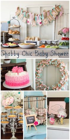 Great shabby chic baby shower ideas! See more party ideas at CatchMyParty.com.