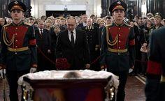 Vladimir Putin paid last respects totheAmbassador oftheRussian Federation toTurkey, Andrei Karlov, who died tragically inAnkara inaterrorist attack onDecember19.
