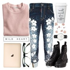 """Tutte le strade conducono a Roma"" by alexandra-provenzano ❤ liked on Polyvore featuring Dsquared2, Retrò, H&M, Dr. Martens and Daniel Wellington"